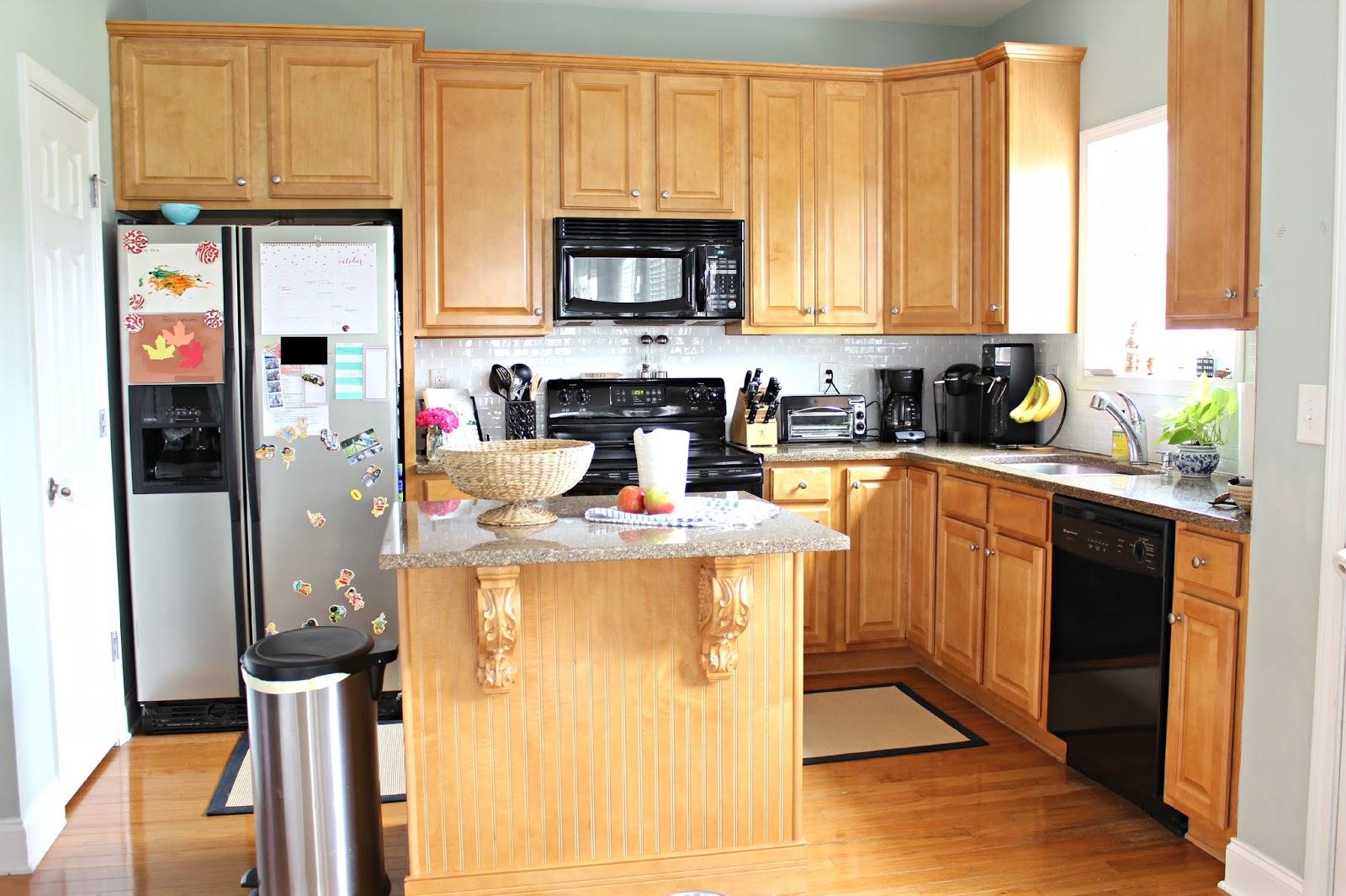 kitchen rental metal shelf ten june how to update a with peel stick tile