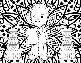 Mandala de la expropiacion petrolera para colorear | Mandala de Lázaro Cárdenas