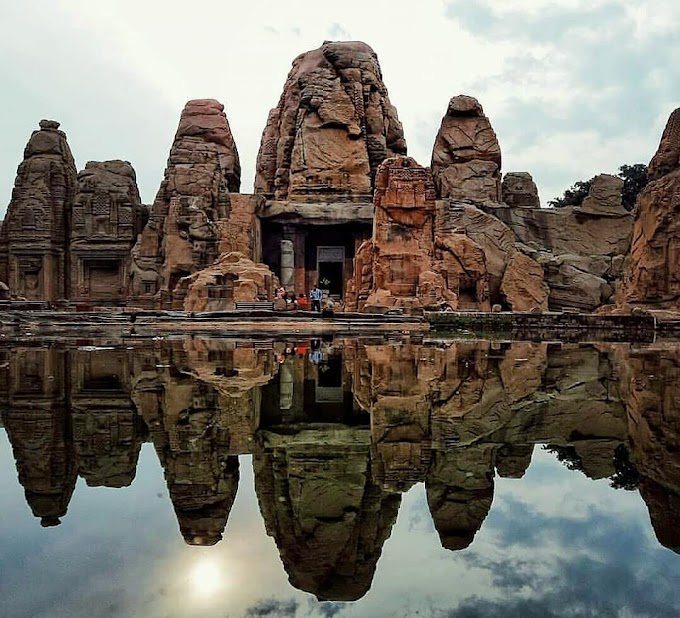 The Masrur Rock-cut Temple in Himachal Pradesh / Religious tourist place in India