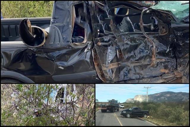 Três pessoas morrem em acidente envolvendo dois carros na Chapada Diamantina