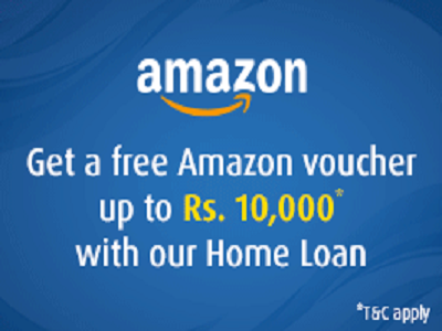 Now get a free Amazon Gift Voucher when you take a Bajaj Housing Finance Limited Home Loan