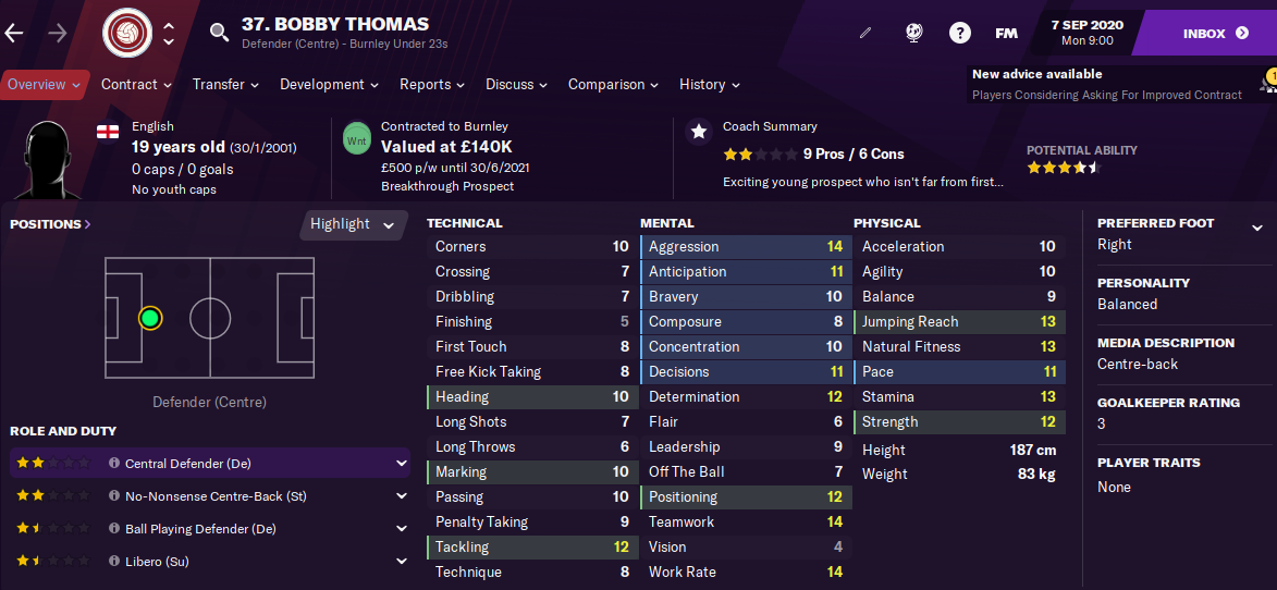 FM21 Bobby Thomas