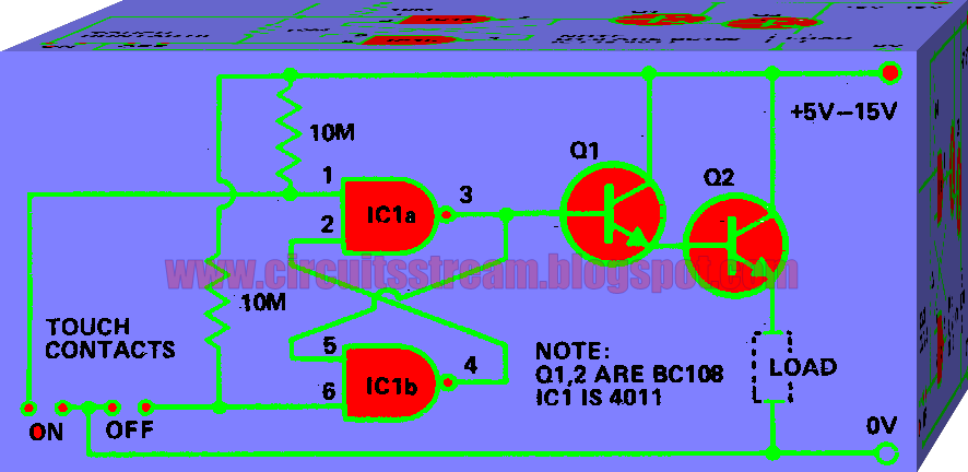 Low Current Touch Switch Circuit Diagram