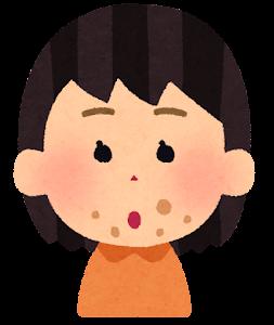 口の周りが汚い子供のイラスト(女の子)