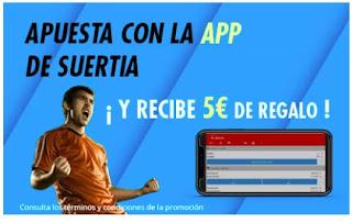 suertia apuesta app y 5 euros regalo 9-11 marzo 2021