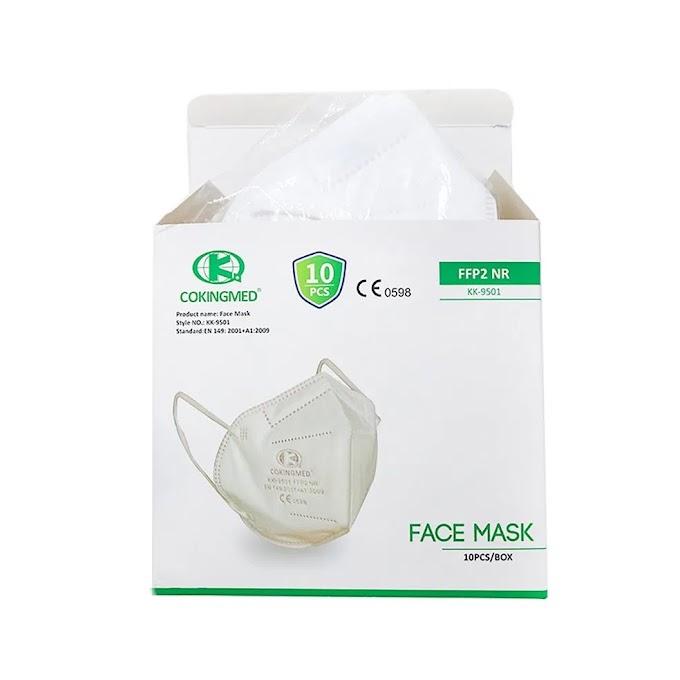 Μάσκα προσώπου υψηλής προστασίας FFP2 (10 τμχ.)