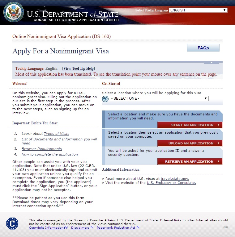 i am a dekaphobic]: How To Apply for US Tourist Visa