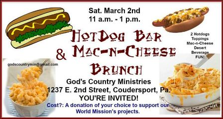 3-2 Hot Dog Bar, God's Country Ministries, Coudersport