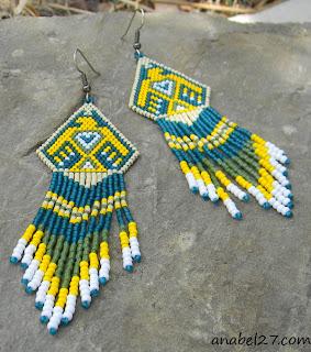 Купить серьги из бисера, яркая этническая бижутерия, этно украшения