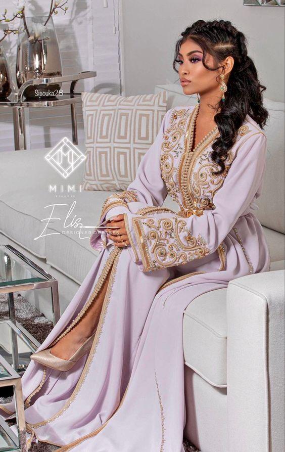 caftan beige de mariage haute couture paris