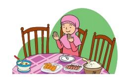 Sebelum dan sesudah makan Siti selalu berdoa www.simplenews.me
