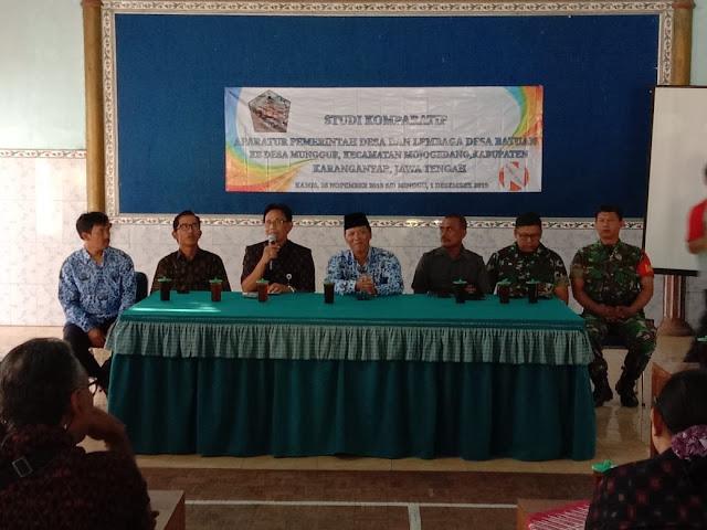 Kodim Karanganyar – Babinsa Dampingi Kunjungan Studi Komparatif Dari Aparatur Pemerintahan Desa Batuan Provinsi Bali