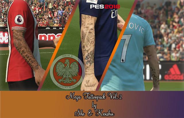 PES 2018 Mega Tatto Pacl V2 dari Sho & Kenshin