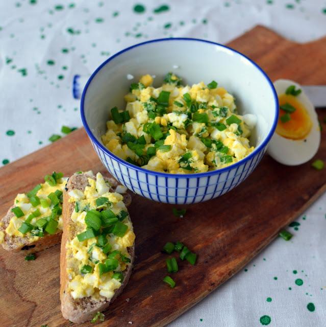 pasta%2Bjajeczna Pasta jajeczna ze szczypiorkiem