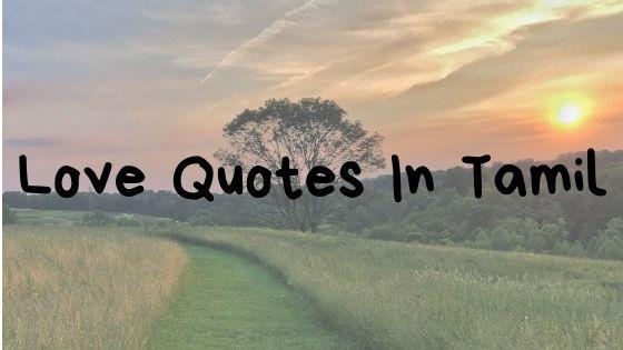 Love Quotes In Tamil   தமிழில் காதல் மேற்கோள்கள்