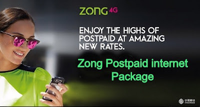 Zong Postpaid internet Packages 2020