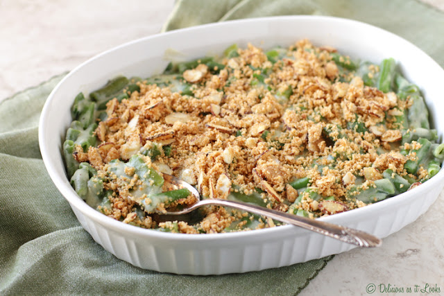 Low-FODMAP & Gluten-Free Green Bean Casserole  /  Delicious as it Looks