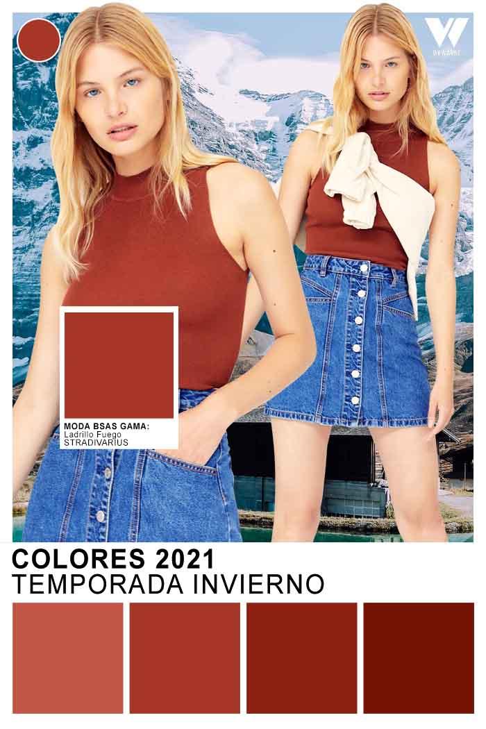 Ropa de mujer juvenil colores de moda invierno 2021
