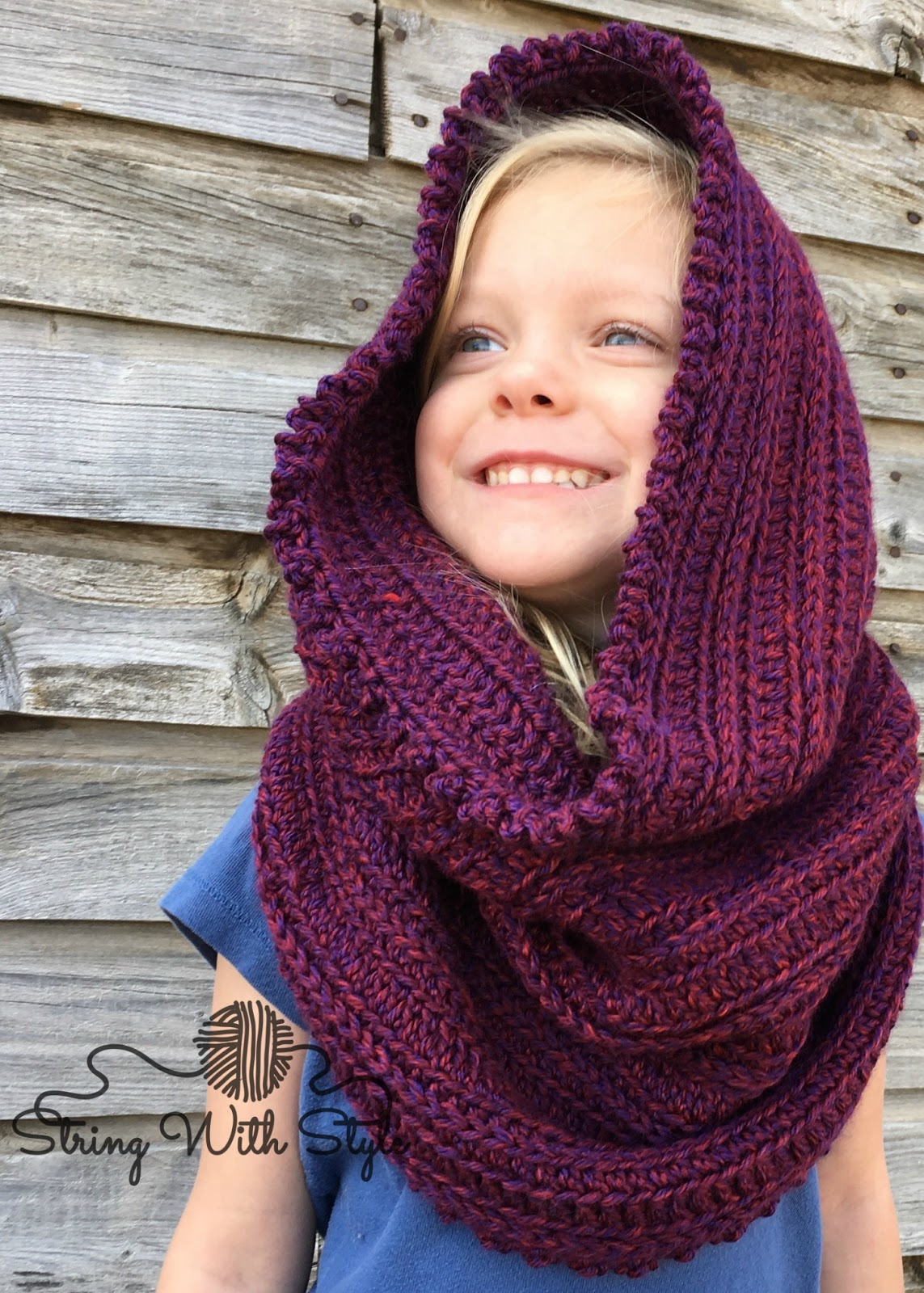 String With Style: Sleigh Ride Hooded Infinity Scarf
