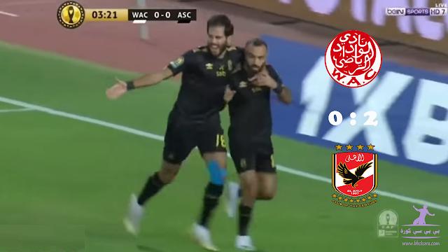 الأهلي يفوز بثنائية ويضع قدمه في نهائي دوري الأبطال
