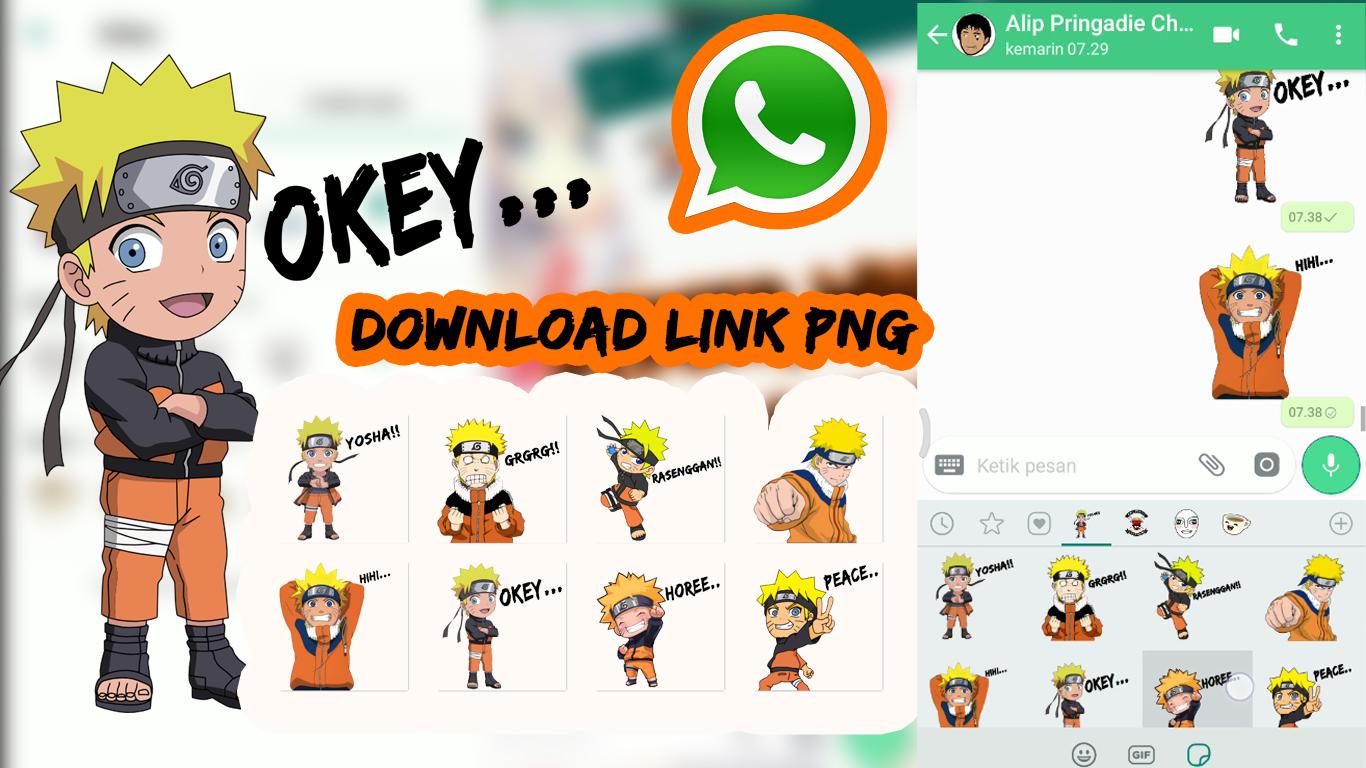 Download png stiker whatsapp anime naruto chibi