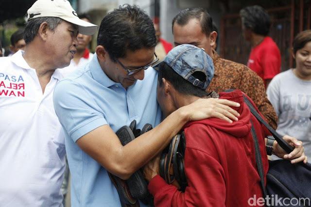 Ungkapan Duka Cita Sandiaga untuk Korban Tsunami Banten