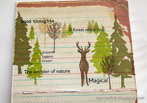 Layers of ink - Nature Journal and Box Tutorial by Anna-Karin Evaldsson. With Simon Says Stamp Forest Scenery stamp set.