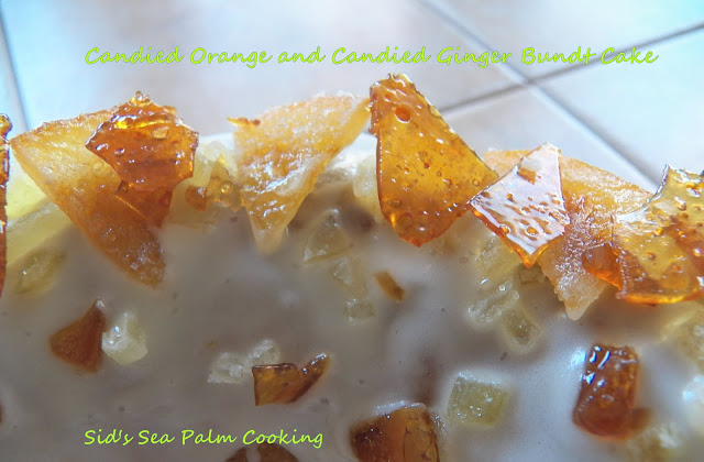 Candied Orange and Candied Ginger Bundt Cake