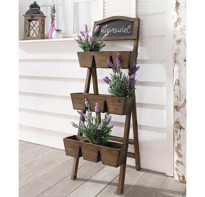 wood vertical planter, herb garden planter, indoor outdoor herb garden