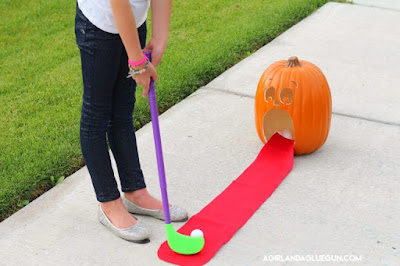 Easy Pumpkin Golf Game