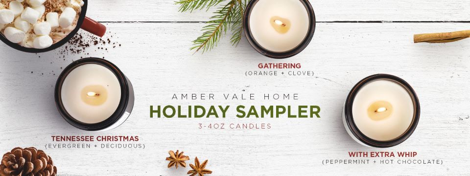 Win Amber Vale Home Holiday candle sampler #giveaway #ad