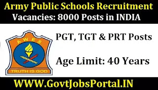 AWES Recruitment 2020  8000+ Vacancies for PGT, TGT & PRT in Army Schools
