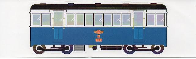 特製經典火車貼紙