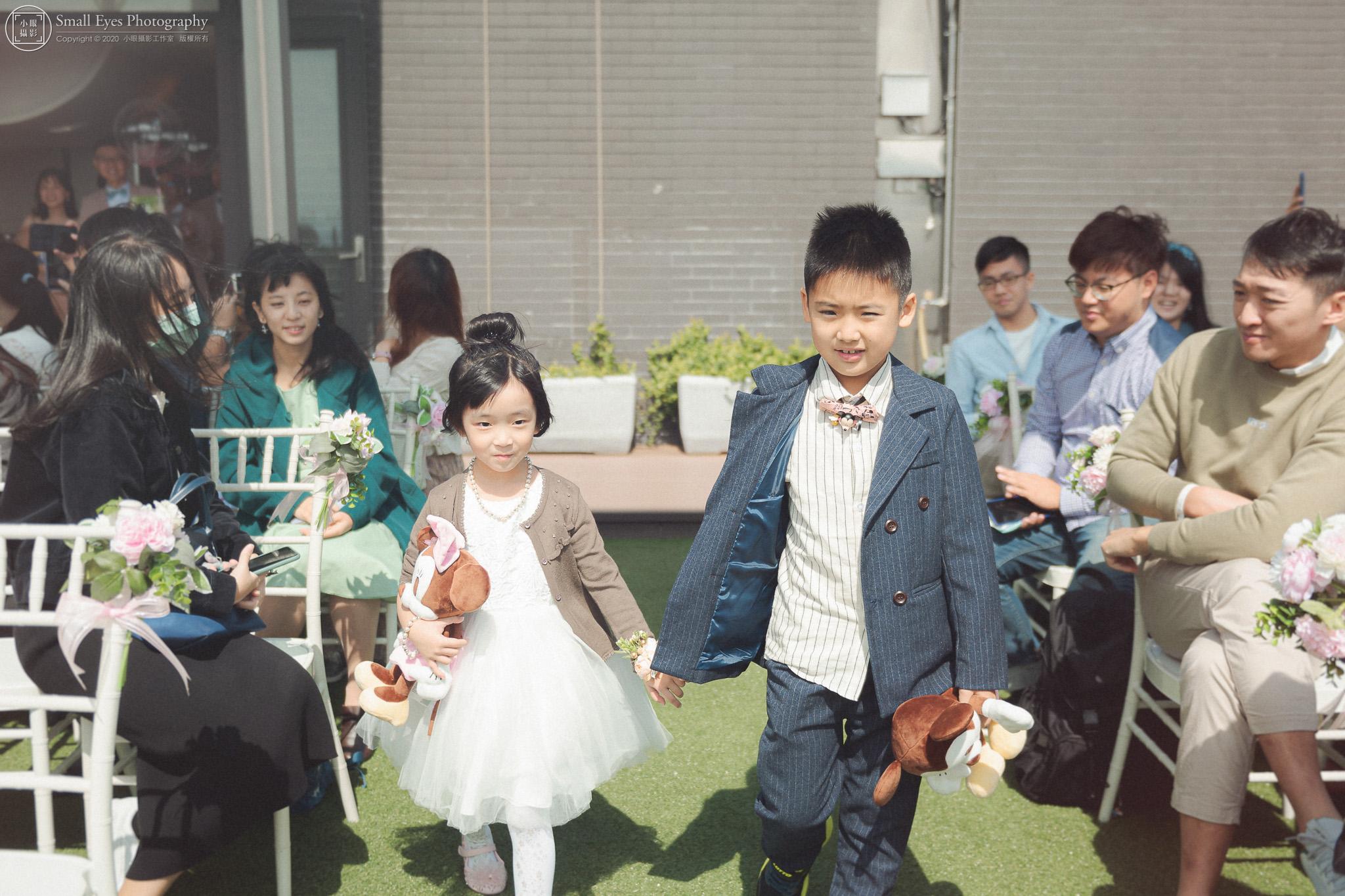小眼攝影,傅祐承,婚禮攝影,婚攝,婚禮紀實,婚禮紀錄,貳月婚紗,新秘瓜瓜,迎娶,台北,格萊天漾,花童