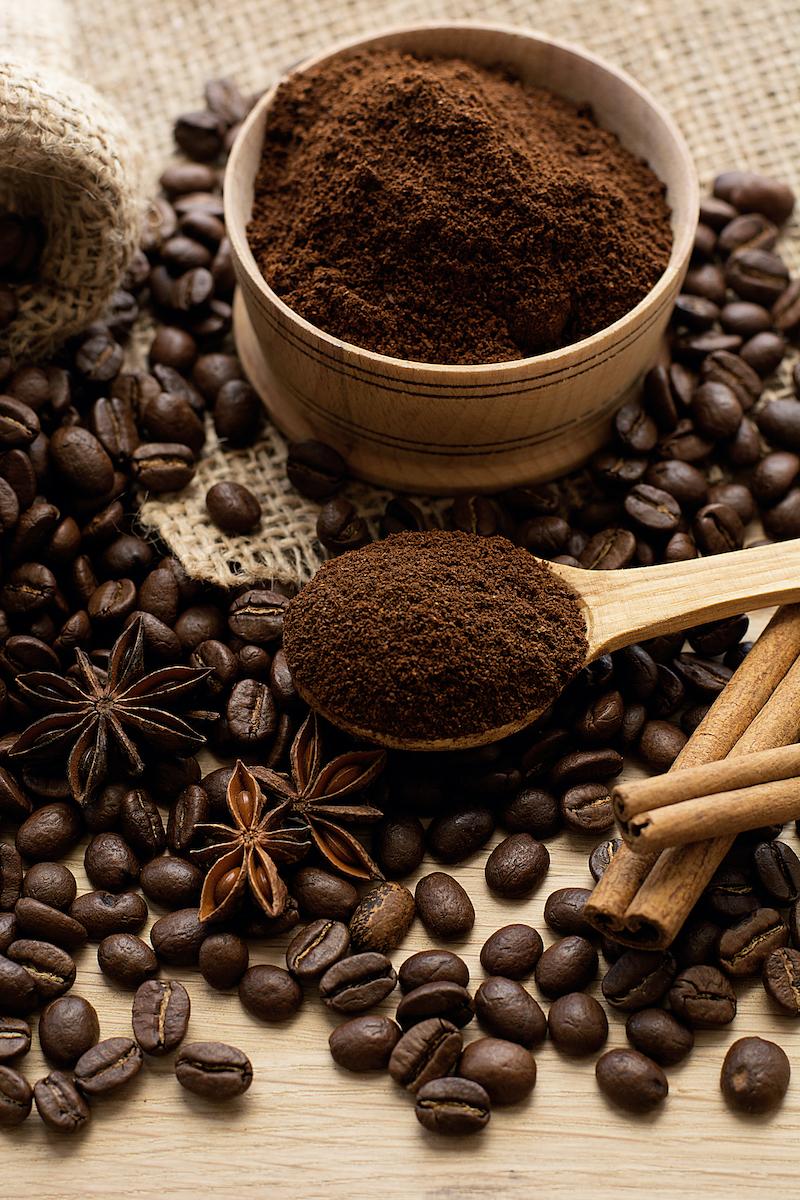 Café molido comprado a granel