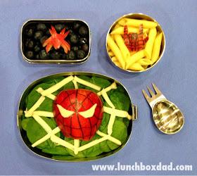 Superhero kids lunch
