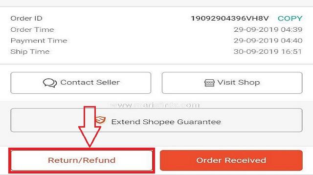 Cara Refund Shopee