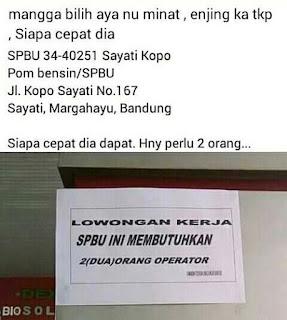 Lowongan Kerja SPBU Bandung Terbaru 2020 Sebagai Operator Pom Bensin