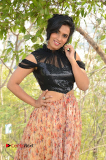 Actress Chetana Uttej Stills in Floral Long Skirt at Pichiga Nachav Movie Press Meet  0008.JPG