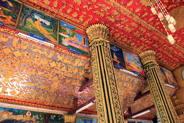 Decoration of the temple Wat Si Muang - Vientiane - Laos