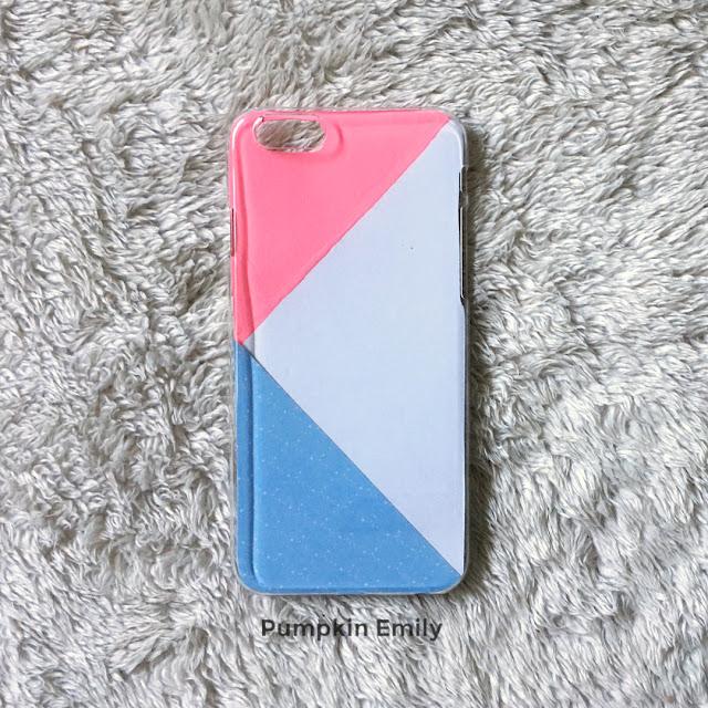 DIY geometric phone case with three colors