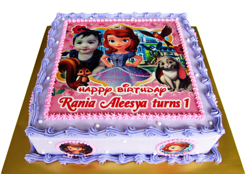 Birthday Cake Edible Image Sofia The First