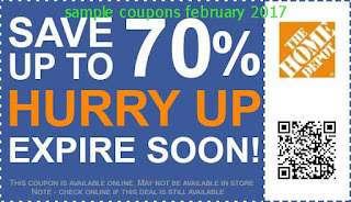 Home Depot coupons february 2017