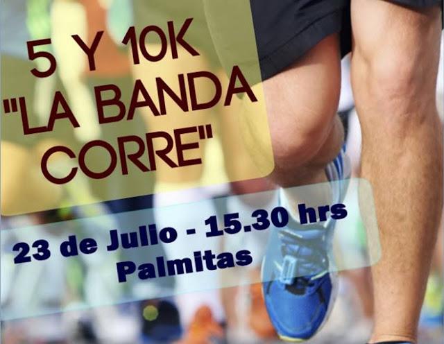 10k La banda corre en Palmitas (Soriano, 23/jul/2016)