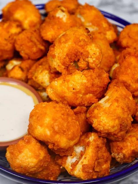 Air Fryer Buffalo Cauliflower