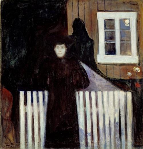 "Edvard Munch, ""Moonlight"", 1893 | imagenes obras de arte tristes, bellas, pinturas, cuadros, art pictures inspiration, cool stuff."