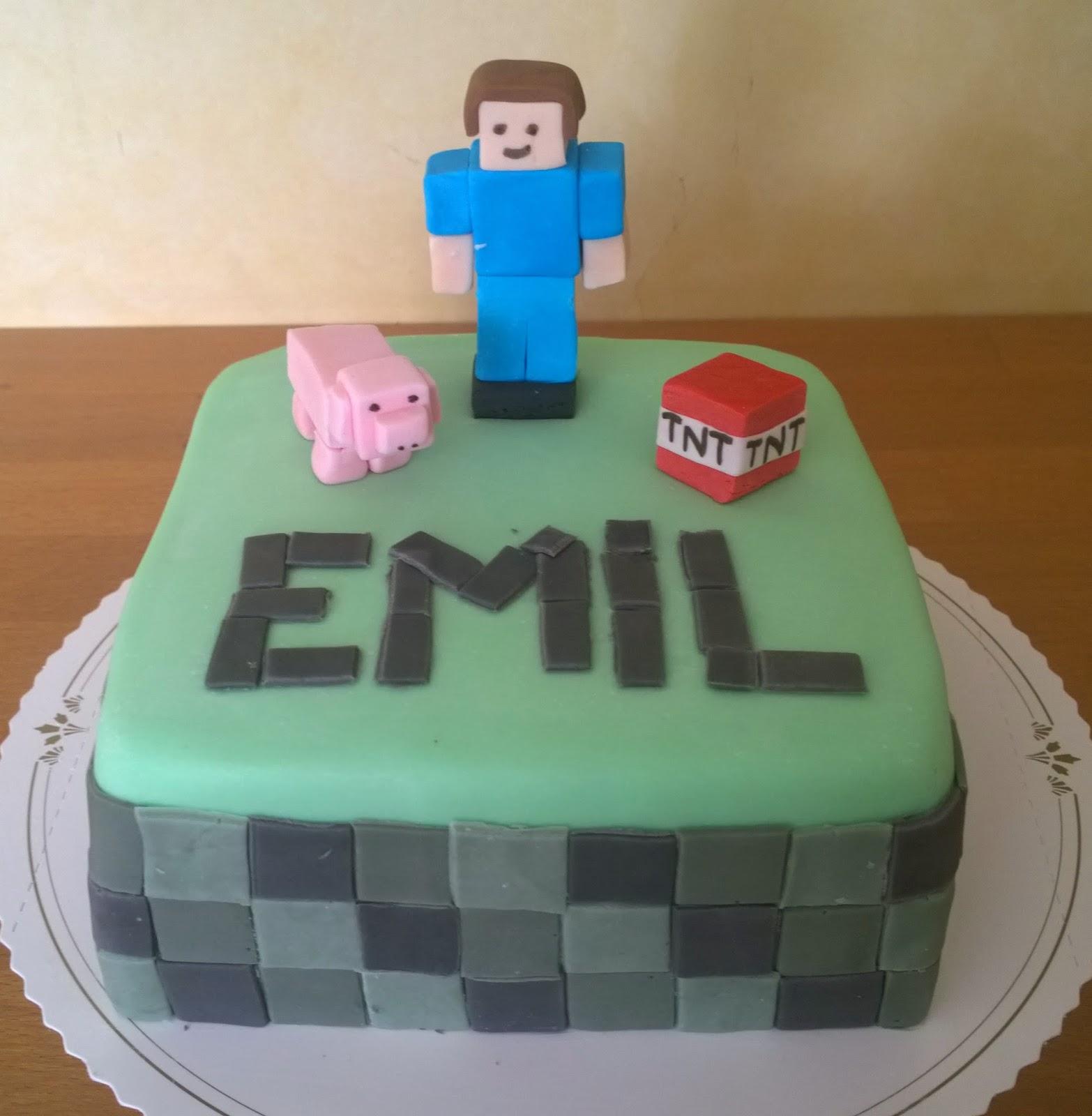 grattis emil Mat & dryck   Nillashandicraft   Emil firade med Minecraft  tårta  grattis emil