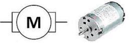 Simbol dan Bentuk Fisik Motor DC