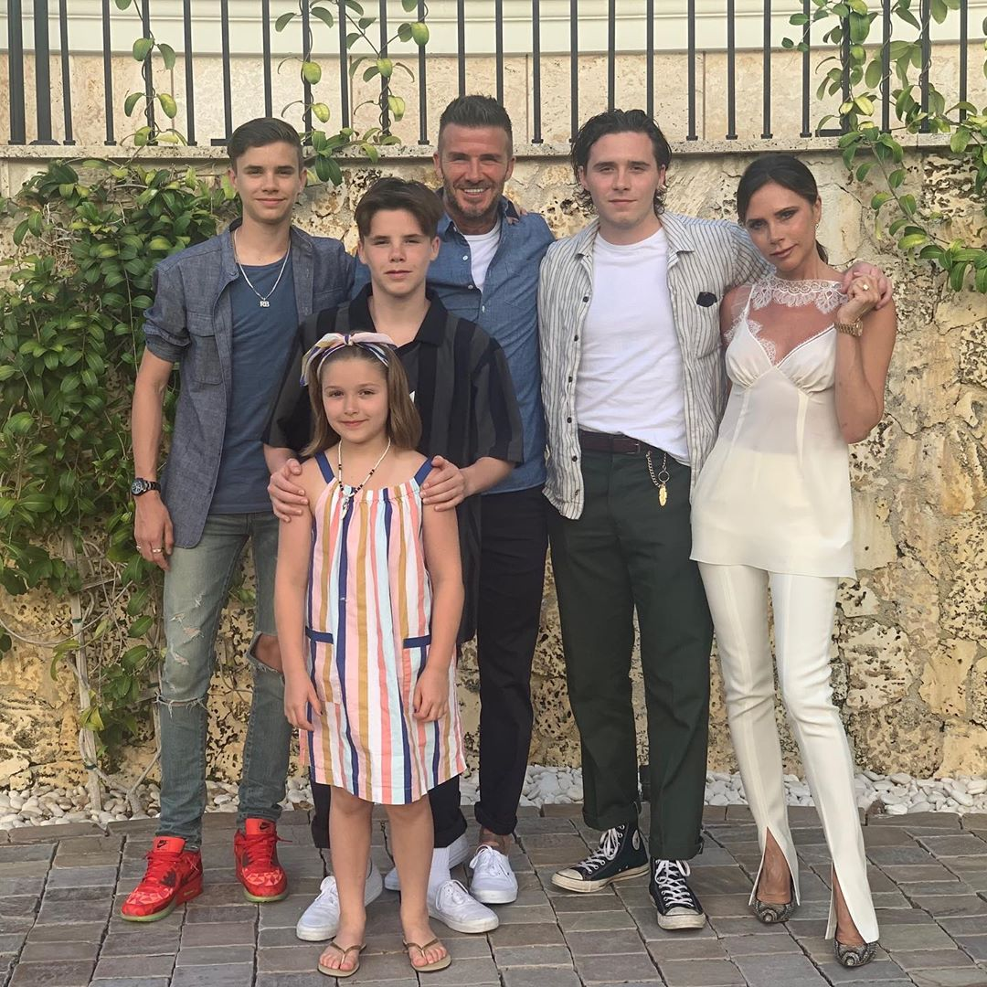 David Beckham And Family In Miami