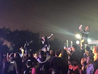 Confusión en show grupero en Minatitlán hubo disparos